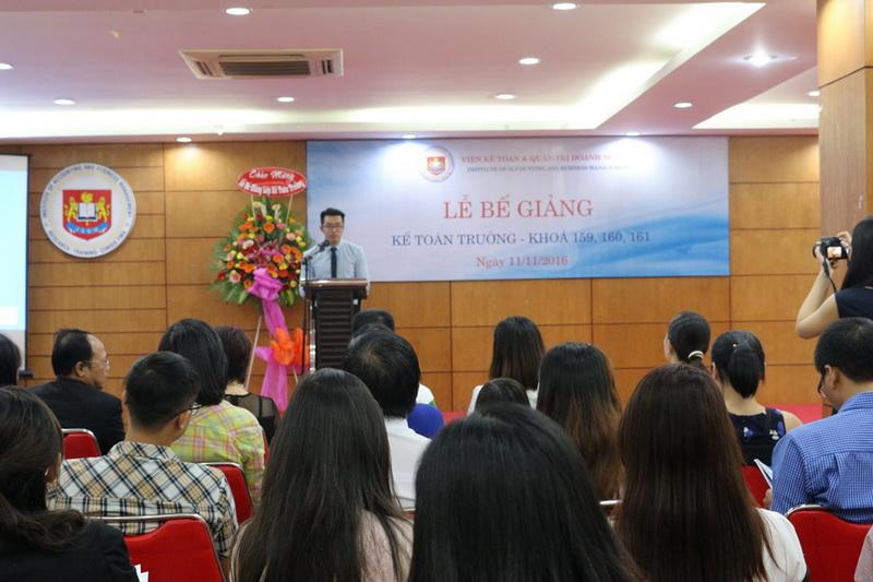 Lễ bế giảng Lớp Kế toán trưởng K159 - K160 - K161